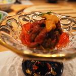 焼肉エクセレント - 五味子茶ゼリーと炙り牛肉の相性は抜群