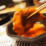 焼肉エクセレント - すき焼き風の食べ方(これ大好き)