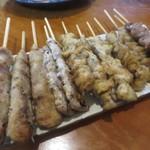 魚豊寿し - 串焼き盛合せ