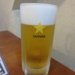 魚豊寿し - 生ビールはサッポロ