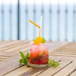 レストラン潮幸 - ローズヒップとブラッドオレンジのモヒート