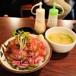 鳥園 - 高尾山+みそ汁+生卵(1,090円)