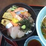 てっ平食堂 - よめさんセットの海鮮丼