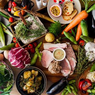自慢の「東京野菜」で作る野菜料理