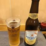 鰻 むさし乃 - ノンアルビールはサッポロでした