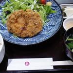 鴨正 - 鴨かつ定食+デザート 1,000円