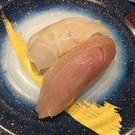 もり一 - 「ハマチ、真鯛」150円