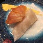 もり一 - 「赤貝、ミル貝」150円