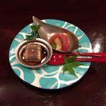 和 あすか - デザート/氷ようかん、トマトシャーベット