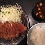 とんかつ三太 - ロースカツ定食1,300円