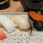 本等鮨 海馬 - いか、貝柱、いくら