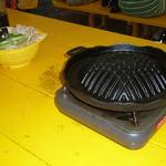 グリーンピア大沼 - ジンギスカン鍋と野菜