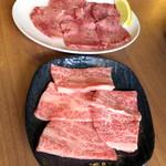 炭火乃 - カルビ_1,250円、牛タン塩_1,250円