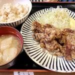 ちばチャン - 唐揚げ定食600円