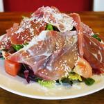 岩国イタリア食堂カンパーニュ - 料理写真:★爆盛り!14ヶ月熟成パルマ産生ハムサラダ
