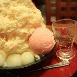 甘味処 古今茶家 - 白玉といちごアイス