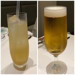なかがわ - ◆「ビール(800円)」と「ジンジャーエール(700円)」を。