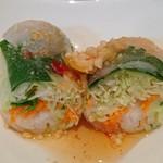 ガイ - ガイ @宝町 ランチセットに付くサラダは野菜生春巻き