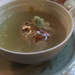 下鴨 芹生 - 里芋のエビ団子