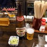 88084122 - 瓶ビール、お通し