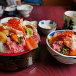 鮨岡 - 大盛と小盛の比較