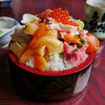 鮨岡 - 本気丼(大盛)