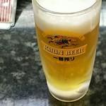鮨処魚音 - キリン一番搾り生ビール中ジョッキ600円
