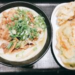 Nihombashisanukiudonhoshino - 肉うどんと天ぷら盛り