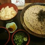 めんぼう - 料理写真:ざる・かやくセット850円(税込)