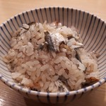 四谷 うえ村 - 天然鮎の炊き込みご飯