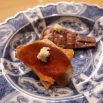 四谷 うえ村 - あん肝スイカの奈良漬け シャコ