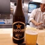四谷 うえ村 - サッポロ黒ラベル やはりビールから
