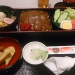 そば処 高喜屋 - カレー重セット 830円