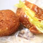 トリーゴ - 料理写真:カレードーナツ、オープンサンド
