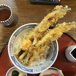 魚夏 - 穴子の天丼のアップ