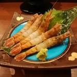 村上水産仲買人直営店鮮魚部 - 料理写真:もさ海老刺身