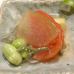 焼肉 強小亭 - 夏野菜の冷やし煮