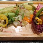焼肉 強小亭 - 鳥取産根菜と金山寺味噌