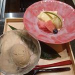 焼肉 強小亭 - 季節のフルーツ