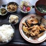 むちゃく - 鶏とナスの味噌炒め定食=750円
