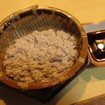 酒肴処しもむら - 黒豆入りざる豆腐