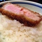 とんかつ マンジェ - 白トリュフ塩あじ豚とんかつオンザライス最高!