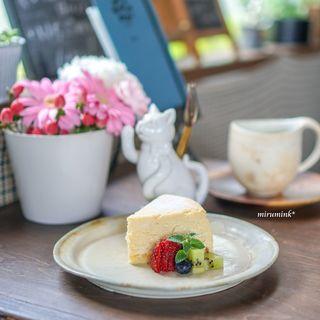 カフェ エピス - ベイクドチーズケーキ、マンデリン