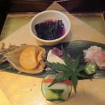 天ぷら酒房 西むら - 前菜くるま
