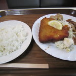 麦 - (骨迄ヤワラカイ)アジフライ盛合セ定食