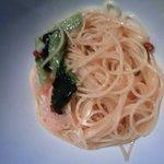 8812878 - えびと小松菜のぺペロンチーノ