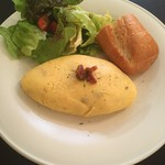 CAFE CUPOLA mejiro - 富良野牧場のベーコンとドライトマトのオムレツ('18/06/24)