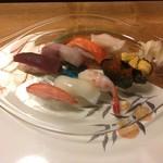 菊鮨 - 松にぎり