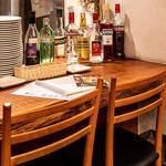 トラットリア・クラウディア - 一番人気のカウンター席