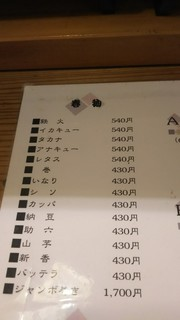 天寿司 - メニュー3